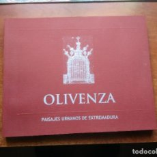 Libros de segunda mano: OLIVENZA. PAISAJES URBANOS DE EXTREMADURA.. Lote 110086679