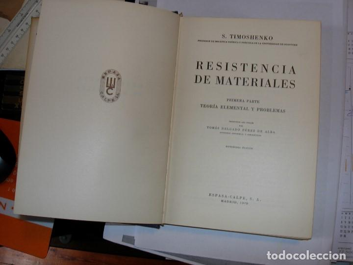 Libros de segunda mano: RESISTENCIA DE MATERIALES Tomo 1 de S. TIMOSHENKO - Foto 2 - 111282199