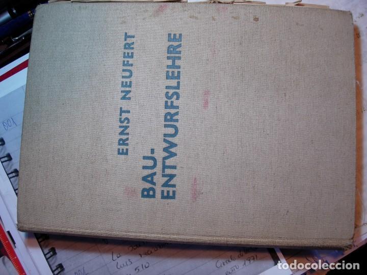 Libros de segunda mano: NEUFERT, EDICION ALEMANA 1938 - Foto 2 - 111616251