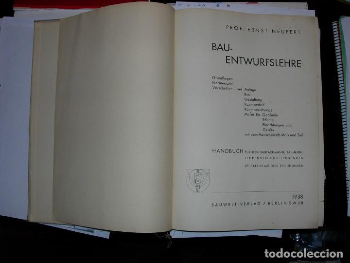 Libros de segunda mano: NEUFERT, EDICION ALEMANA 1938 - Foto 3 - 111616251
