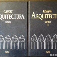 Libros de segunda mano: EL GRAN ARTE EN LA ARQUITECTURA. GÓTICO - 2 TOMOS, ED. SALVAT/ 1987. Lote 188816183