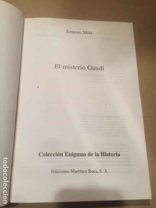 Libros de segunda mano: Antiguo libro el misterio de Gaudí escrito por Ernesto Milá año 1994 - Foto 2 - 111929391