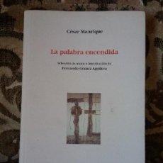Libros de segunda mano: CESAR MANRIQUE- LA PALABRA ENCENDIDA. DE FERNANDO GOMEZ AGUILERA (ARQUITECTURA, PINTURA, CANARIAS). Lote 112617823