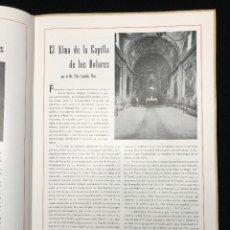 Libros de segunda mano: LA CAPILLA DE LOS DOLORES DE LA BASÍLICA PARROQUIAL DE SANTA MARÍA DE MATARÓ. Lote 113592863