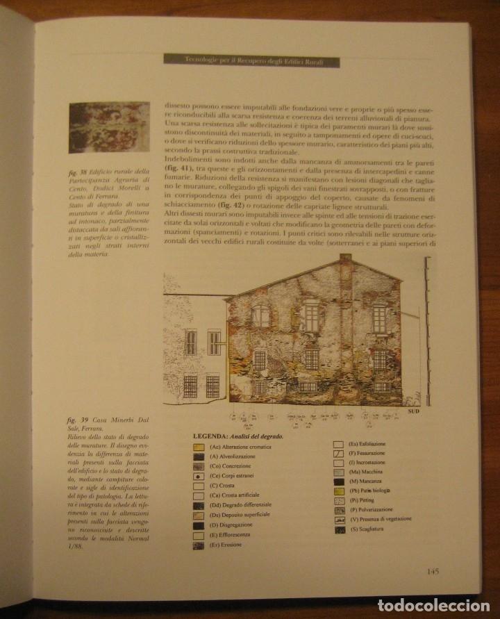Libros de segunda mano: TECNOLOGIE PER IL RECUPERO DEGLI EDIFICI RURALI. ESPERIENZE IN EMILIA ROMAGNA. - Foto 12 - 113952495