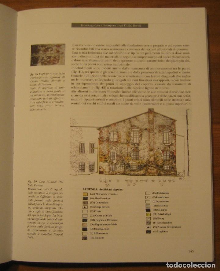 Libros de segunda mano: TECNOLOGIE PER IL RECUPERO DEGLI EDIFICI RURALI. ESPERIENZE IN EMILIA ROMAGNA. - Foto 13 - 113952495