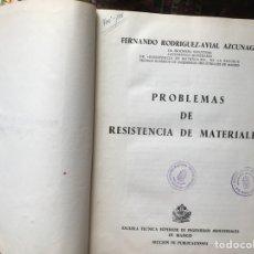 Libros de segunda mano: PROBLEMAS DE RESISTENCIA DE MATERIALES. FERNANDO RODRÍGUEZ-AVIAL. Lote 114059054