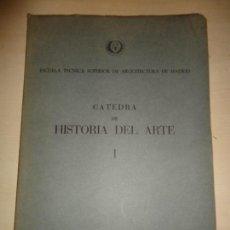 Libros de segunda mano: CÁTEDRA DE HISTORIA DEL ARTE JOSÉ ANTONIO IÑIGUEZ Y FERNANDO AGUIRRE DE IRAOLA. Lote 114313775