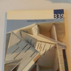 Libros de segunda mano: ARQUITECTURA 339 (COAM) REVISTA 2005. Lote 114563887