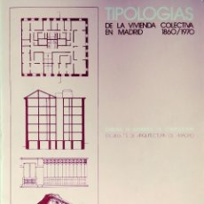 Libros de segunda mano: TIPOLOGÍAS DE LA VIVIENDA COLECTIVA EN MADRID : 1860 / 1870. COLECCIÓN CÁTEDRAS ; 2. Lote 115082031