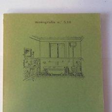 Libros de segunda mano: MONOGRAFIA N 5.10 .- FONTANERIA .- EDUARDO FOLGUER CAVEDA .- ESCUELA TECNICA SUPERIOR ARQUITECTURA. Lote 115702691