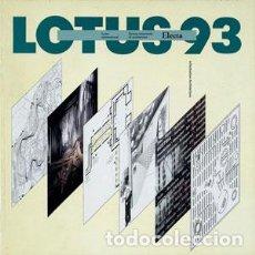 Libros de segunda mano: LOTUS Nº 93- 1997 ALLE ORIGINI DEL LINGUAGGIO AT THE ORIGINS OF LANGUAGE REVISTA ARQUITECTURA ELECTA. Lote 116386691