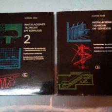Libros de segunda mano: INSTALACIONES TECNICAS DE EDIFICIOS KONRAD SAGE 2 TOMOS.GUSTAVO GILI BARCELONA 1971-1974. Lote 117026207
