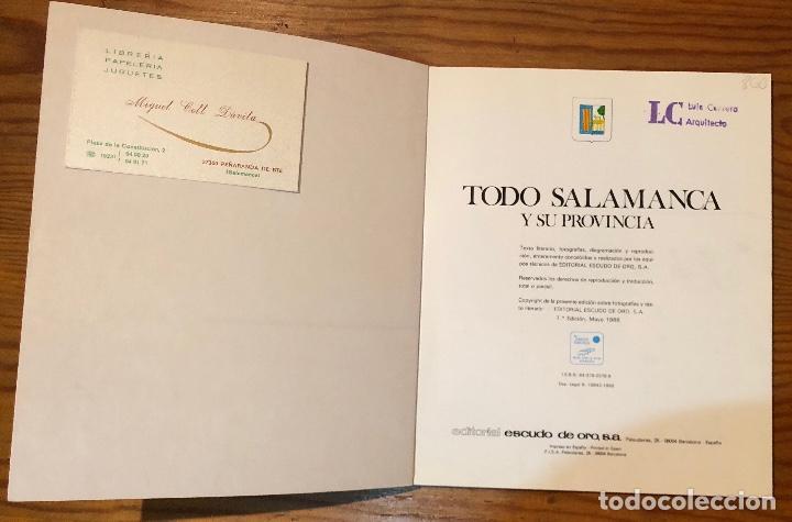 TODO SALAMANCA Y SU PROVINCIA(38€) (Libros de Segunda Mano - Bellas artes, ocio y coleccionismo - Arquitectura)