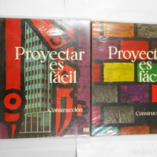 Libros de segunda mano: PROYECTAR ES FACIL. CONSTRUCCION. TOMO I Y TOMO II. EDICIONES AFHA. NUEVOS. TDK90. Lote 117754543