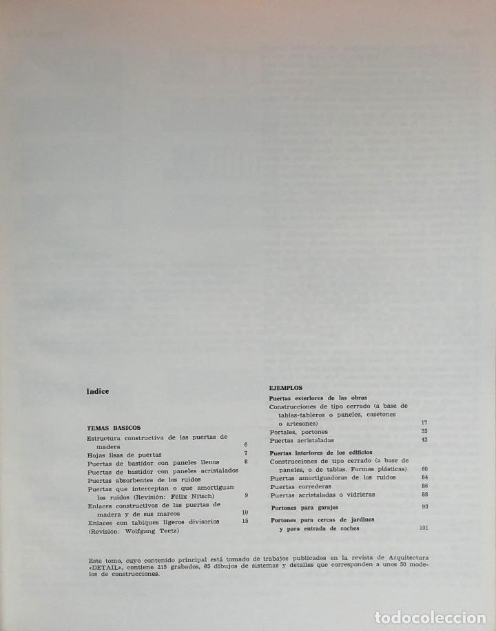 Puertas Y Portones De Madera 1ª Ed Barcelona Blume 1969 Coleccion Detalle 12