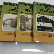 Libros de segunda mano: MONUMENTOS DE BIZKAIA DIPUTACION 4 TOMOS COMPLETA ARQUITECTURA PAIS VASCO BASQUE. Lote 119905347