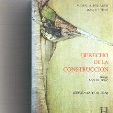 Libros de segunda mano: 1 LIBRO AÑO 1987 - ARCO/ PONS, - MIGUEL A. DEL/ MANUEL. - DERECHO DE LA CONSTRUCCION.. Lote 120025427