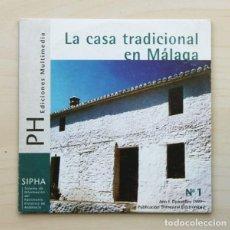 Libros de segunda mano: LA CASA TRADICIONAL EN MÁLAGA (CD MULTIMEDIA). Nº 1. AÑO I, DICIEMBRE 1999. PUBLICACIÓN TRIMESTRAL E. Lote 120181508