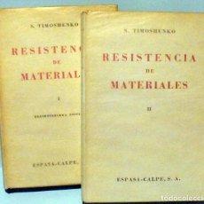 Libros de segunda mano - LIBROS, RESISTENCIA DE MATERIALES. S. TIMOSHENKO. 1976 - 120339987