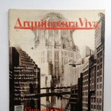 Libros de segunda mano: ARQUITECTURA VIVA Nº 7. CINE-CIUDAD. ESCENARIOS DE LO EFÍMERO: ALICIA EN LAS METRÓPOLIS.. Lote 120684551