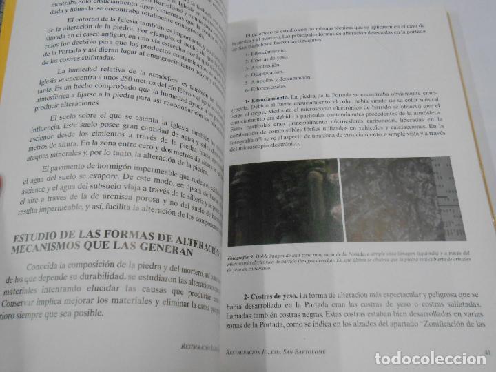 Libros de segunda mano: PRÁCTICA DE CONSERVACIÓN. ESTUDIO PREVIO Y RESTAURACIÓN PORTADA IGLESIA SAN BARTOLOME LOGROÑO TDK346 - Foto 2 - 121168231