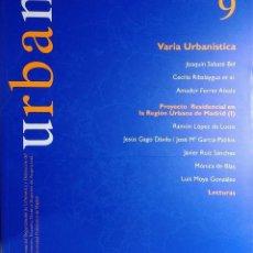 Libros de segunda mano: URBAN 9 : REVISTA DE URBANÍSTICA Y ORDENACIÓN DEL TERRITORIO, ESCUELA SUPERIOR DE ARQUITECTURA . Lote 121708699