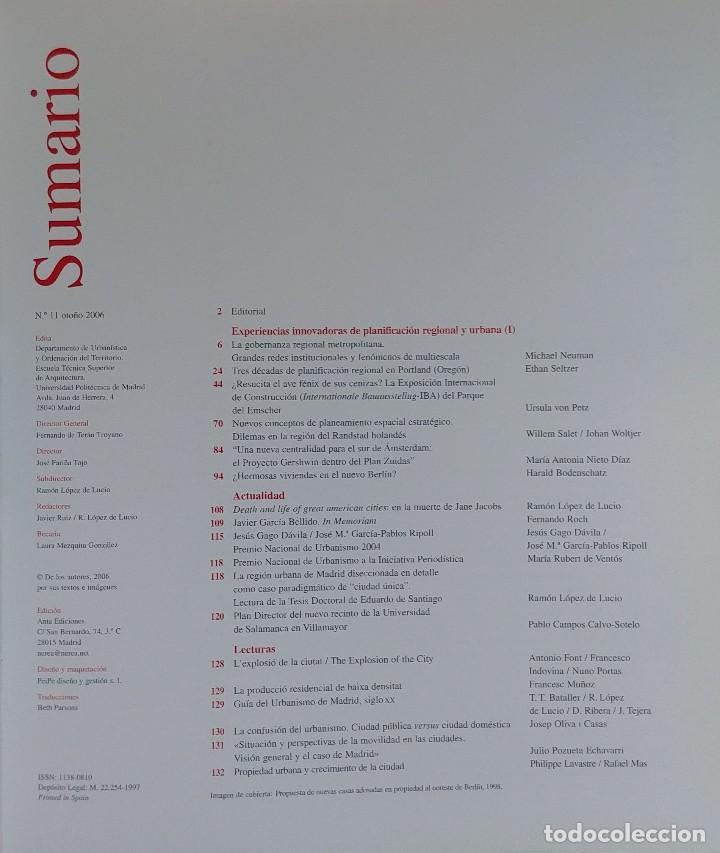 Libros de segunda mano: URBAN 11 : REVISTA DE URBANÍSTICA Y ORDENACIÓN DEL TERRITORIO, ESCUELA SUPERIOR DE ARQUITECTURA - Foto 2 - 121716851