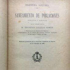 Libros de segunda mano: SANEAMIENTO DE POBLACIONES. Lote 122458760