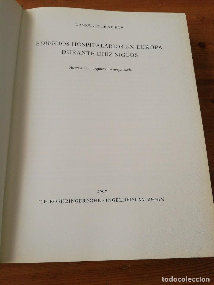 Libros de segunda mano: Edificios hospitalarios en Europa durante diez siglos. - Foto 3 - 124758447
