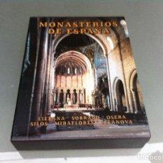 Libros de segunda mano: MONASTERIOS DE ESPAÑA (LIEBANA, SOBRADO, OSERA, SILOS, CELANOVA...) ED. EVEREST, 1984. Lote 125886427
