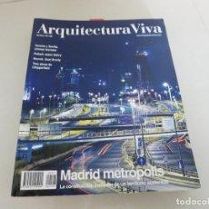 Libros de segunda mano: ARQUITECTURA VIVA 107 108 MADRID METROPOLIS. Lote 126154419