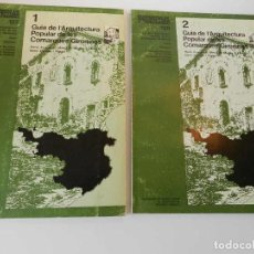 Libri di seconda mano: GUIA DE L'ARQUITECTURA POPULAR DE LES COMARQUES GIRONINES - CUADERNOS DE ARQUITECTURA N 127 Y 128. Lote 193786845