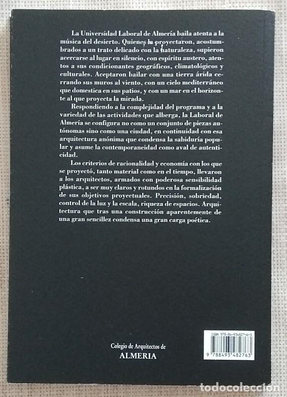 Libros de segunda mano: Univesidad Laboral de Almería. 1971-1974. J.Cano,A.Campo,M.Martín,A.Mas. Elisa Valero Ramos. Nuevo! - Foto 2 - 184380505