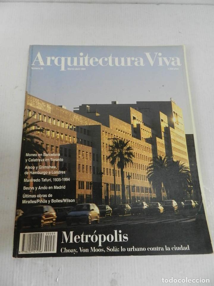 ARQUITECTURA VIVA 35 1994 METRÓPOLIS (Libros de Segunda Mano - Bellas artes, ocio y coleccionismo - Arquitectura)