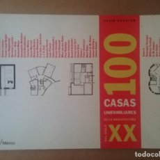 Libros de segunda mano: ARQUITECTURA LIBRO 100 CASAS UNIFAMILIARES DEL SIGLO XX. Lote 129988147