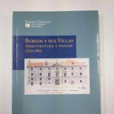 Libros de segunda mano: BURGOS Y SUS VILLAS. ARQUITECTURA Y PAISAJE 1750-1800. LENA SALADINA IGLESIAS ROUCO. TDK351. Lote 130422322