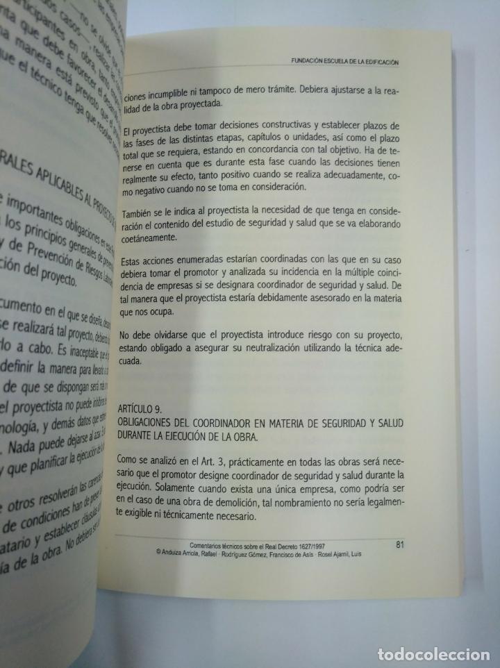 Libros de segunda mano: COMENTARIOS TECNICOS SOBRE LA COORDINACION EN MATERIA DE SEGURIDAD Y SALUD EN LAS OBRAS. TDK307 - Foto 2 - 130426666
