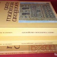 Libros de segunda mano: ARTE MUDEJAR ARAGONES 2 TOMOS + PLANOS COMPLETA-GONZALO M BORRÁS-VER FOTOS. Lote 131939062
