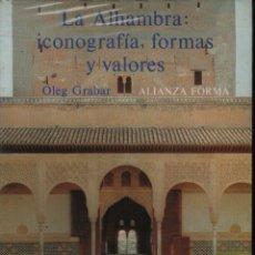 Libros de segunda mano: LA ALHAMBRA: ICONOGRAFÍA, FORMA Y VALORES. Lote 132224559