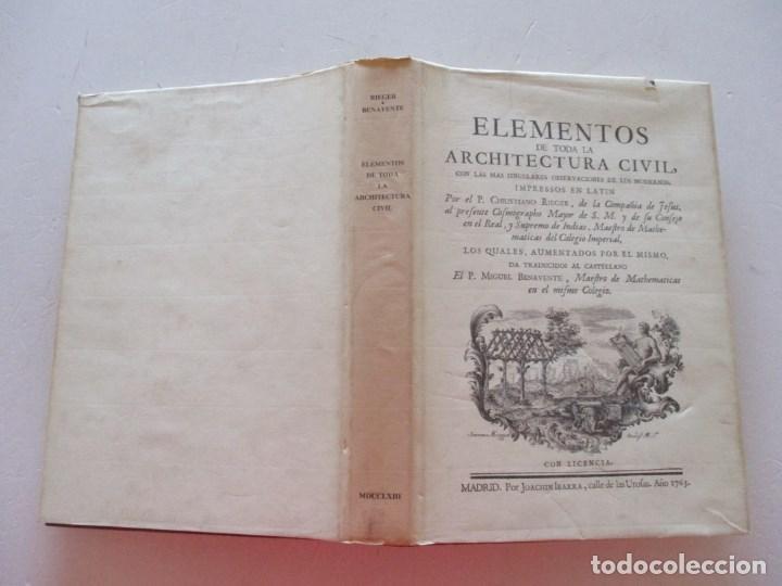 ELEMENTOS DE TODA LA ARCHITECTURA CIVIL CON LAS MÁS SINGULARES OBSERVACIONES DE LOS...RM87901 (Libros de Segunda Mano - Bellas artes, ocio y coleccionismo - Arquitectura)