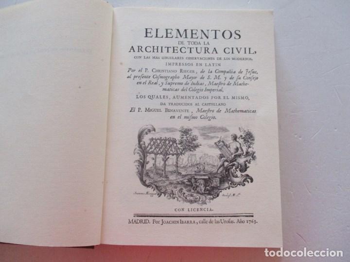 Libros de segunda mano: Elementos de toda la Architectura Civil con las más singulares observaciones de los...RM87901 - Foto 4 - 133579838