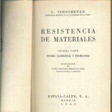 Libros de segunda mano - RESISTENCIA DE MATERIALES. S. Timoshenko - 57224406