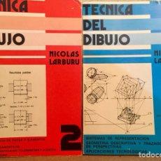 Libros de segunda mano: DIBUJO TECNICO. TECNICA DEL DIBUJO. LIBROS 1 Y 2.. Lote 135116833