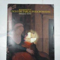 Libros de segunda mano: RESTAURACION. CICLO DE TABLAS POLICROMADAS SIGLO XVI. IGLESIA CALZADA DE CALATRAVA. TDK89. Lote 135361174