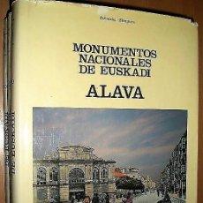 Libros de segunda mano: MONUMENTOS NACIONALES DE EUSKADI: ÁLAVA, GUIPÚZCOA Y VIZCAYA. (TRES VOLÚMENES). Lote 135516498