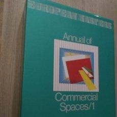 Libros de segunda mano: EUROPEAN MASTERS. ANNUAL OF COMMERCIAL SPACES/1. VOLUMEN I Y II CON ESTUCHE. ATRIUM, 1987. Lote 136422522