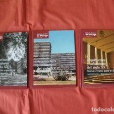 Libros de segunda mano: MÁLAGA ARQUITECTURA Y URBANISMO DEL SIGLO XX (EN 3 TOMOS) . Lote 136492314
