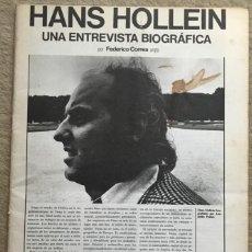 Libros de segunda mano: REVISTA ARQUITECTURAS BIS N° 10 (NOVIEMBRE 1975) - HANS HOLLEIN - ARQUITECTURA. Lote 137925986