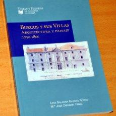 Libros de segunda mano: BURGOS Y SUS VILLAS - ARQUITECTURA Y PAISAJE 1750-1800 - EDITA: CAJA CÍRCULO DE BURGOS - AÑO 2002. Lote 137994962